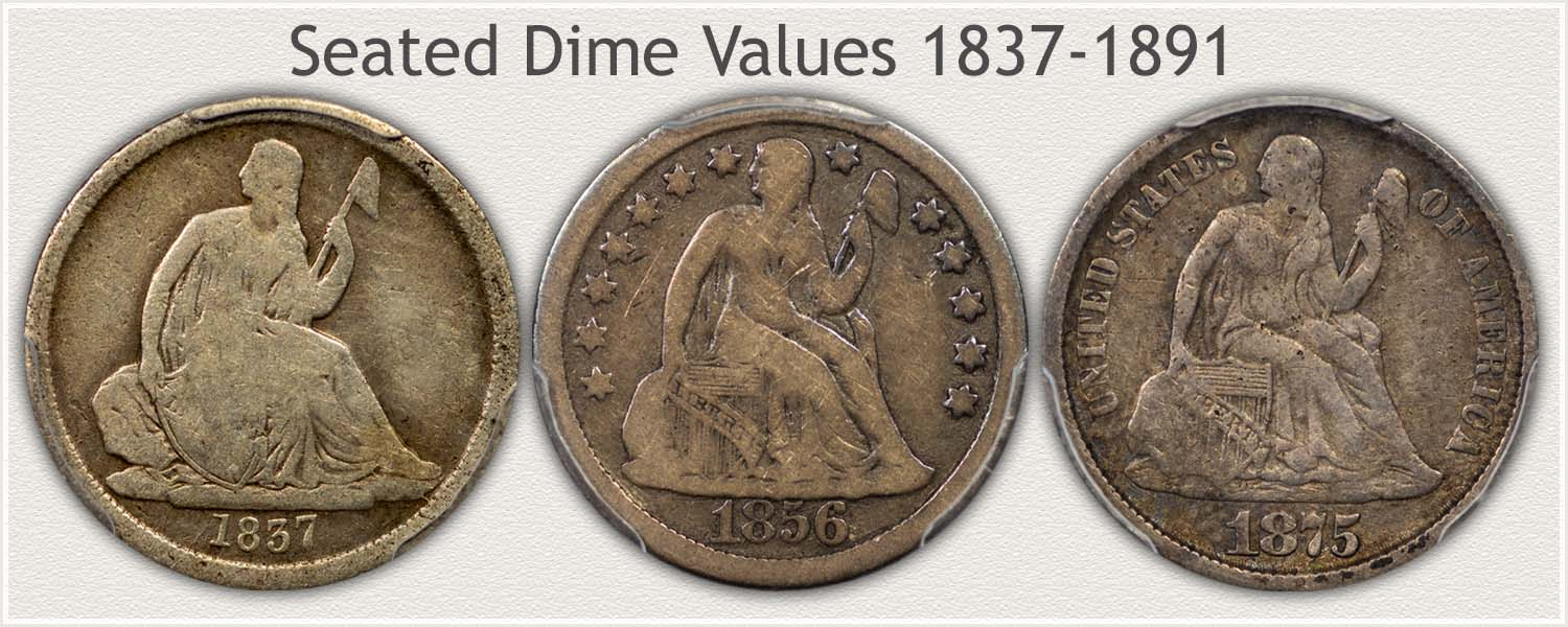 Three Seated Dime Varieties