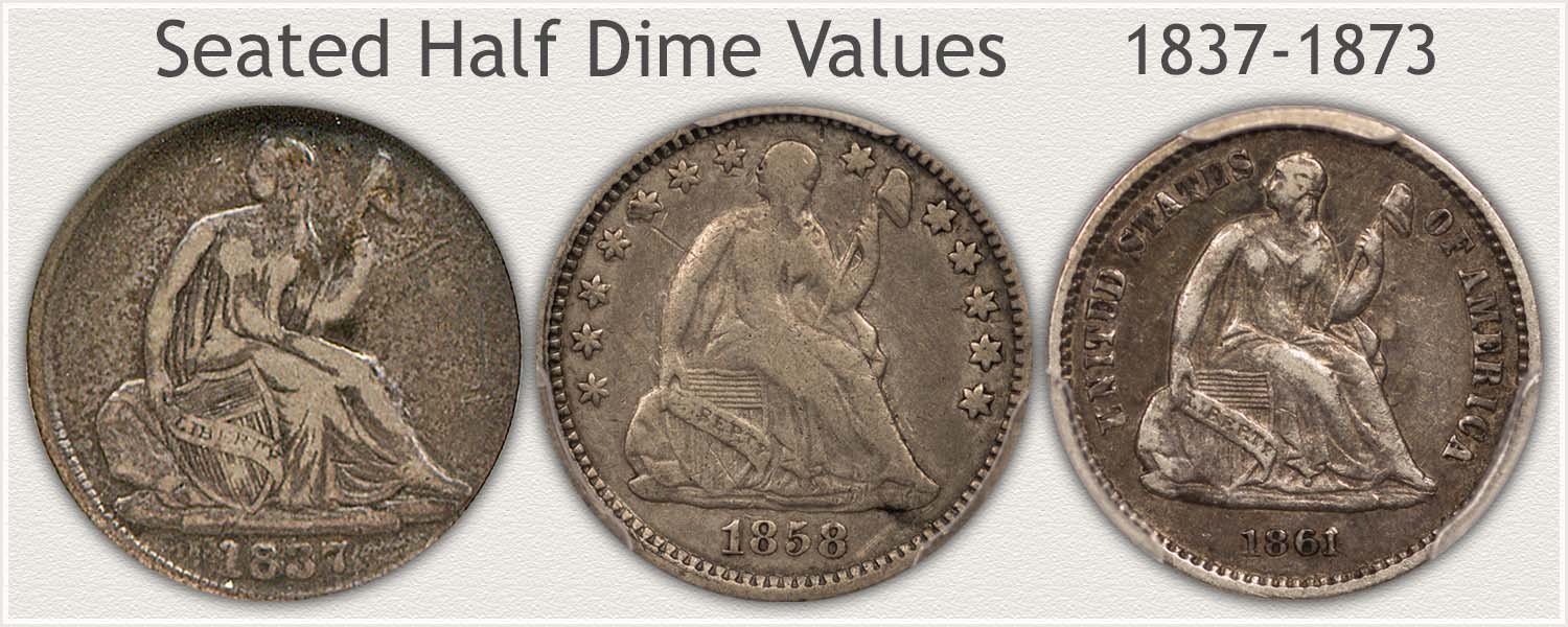 No Starts Obverse, Stars Obverse and Legend Obverse Seated Dimes