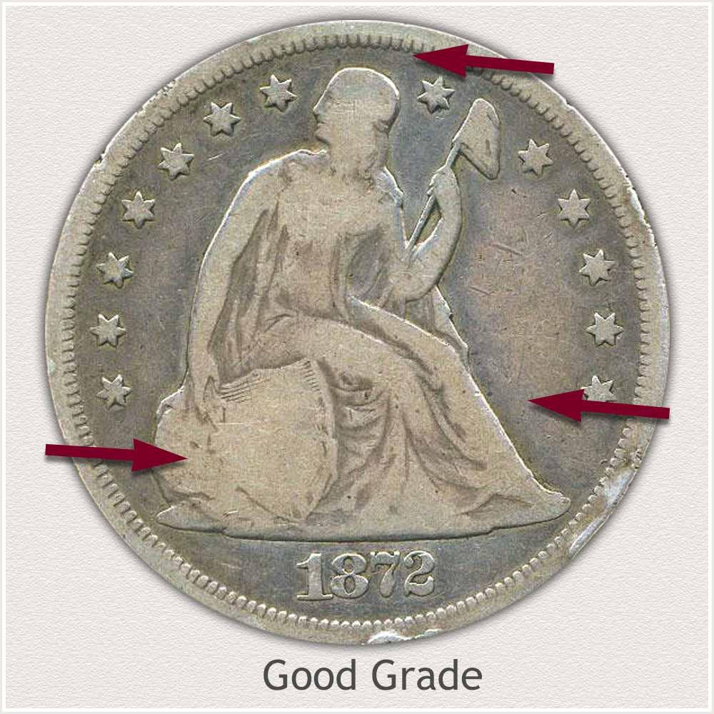 Obverse View: Good Grade Seated Liberty Dollar