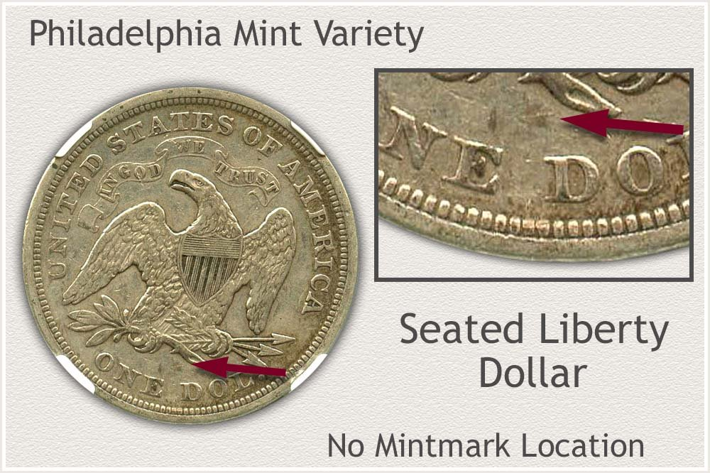 Philadelphia Mint Seated Liberty Silver Dollar