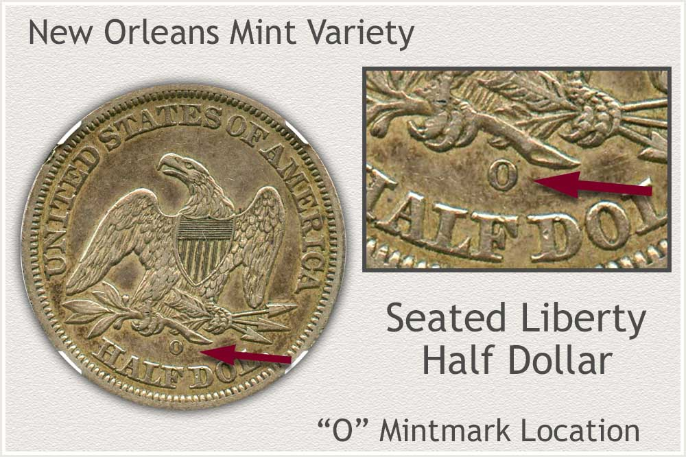 New Orleans Seated Liberty Half Dollar