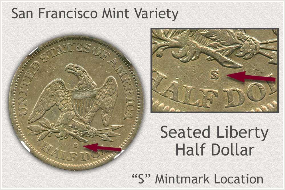 San Francisco Seated Liberty Half Dollar