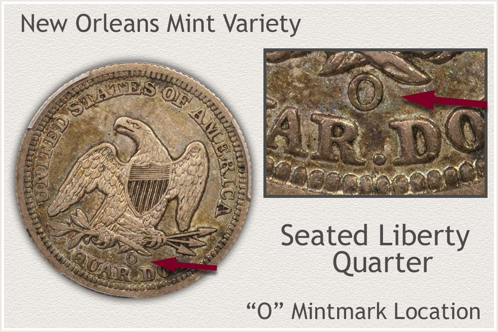 New Orleans Mint Seated Liberty Quarter