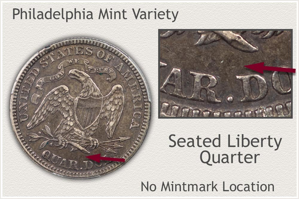 Philadelphia Mint Seated Liberty Quarter
