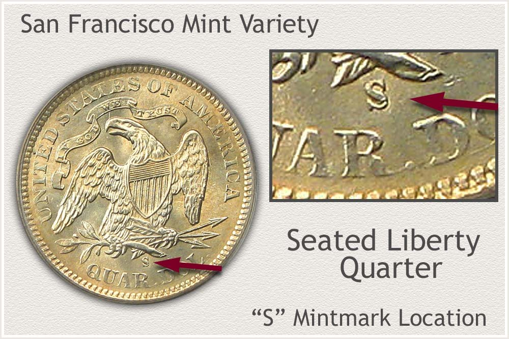 San Francisco Mint Seated Liberty Quarter