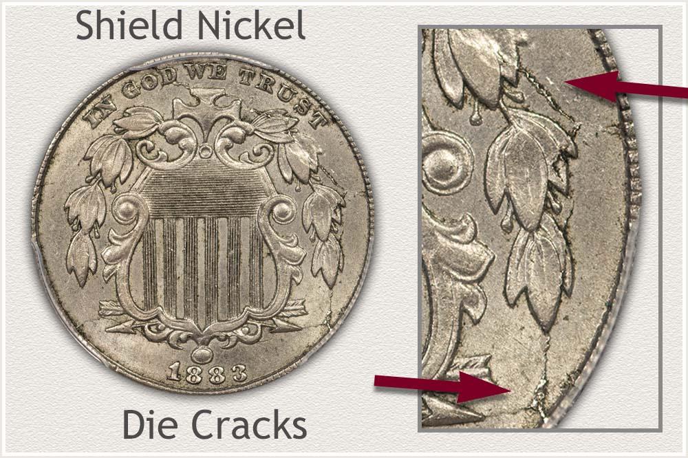 Die Cracks on Shield Nickel
