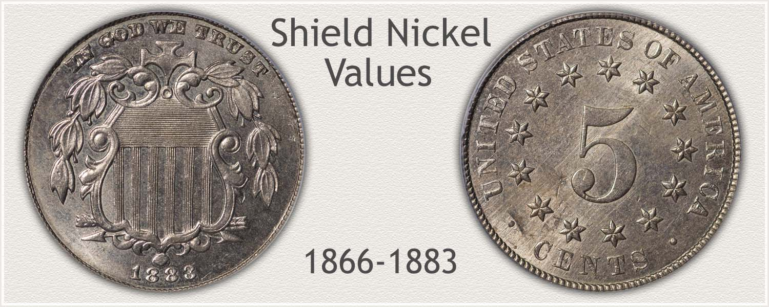 Obverse and Reverse of a Shield Nickel