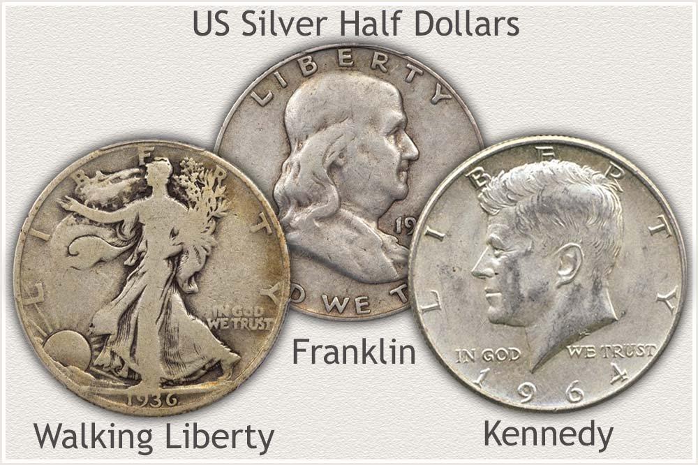 US Half Dollar Bullion Silver Examples
