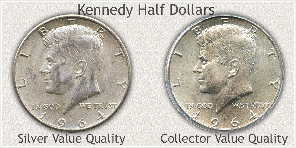 Silver Kennedy Half Dollars