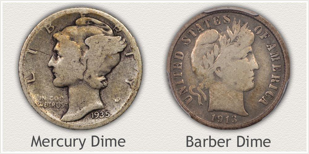 Mercury and Barber Dimes