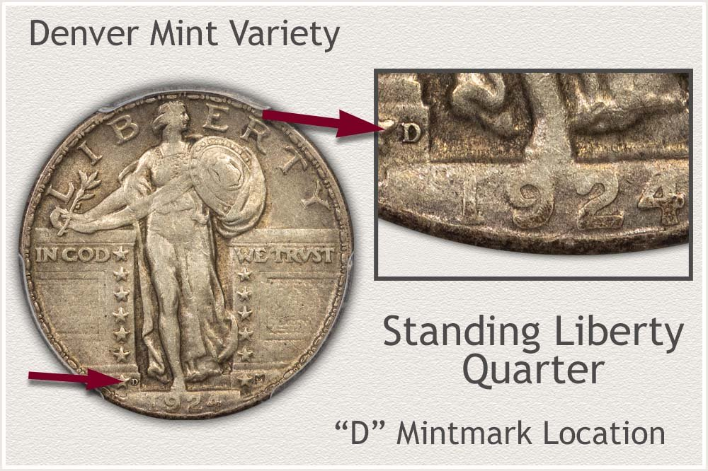 Denver Mint Standing Liberty Quarter