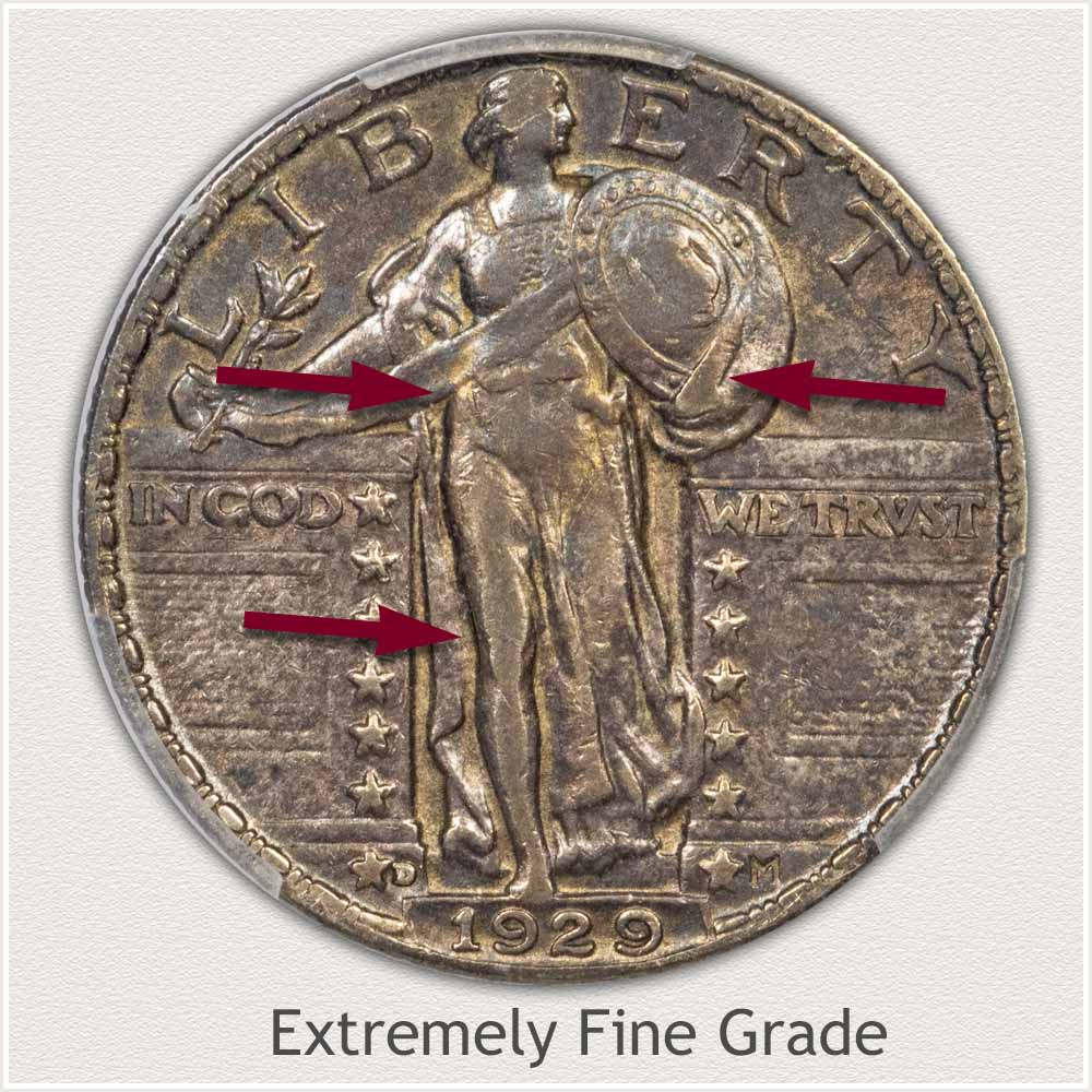 Standing Liberty Quarter Extremely Fine Grade