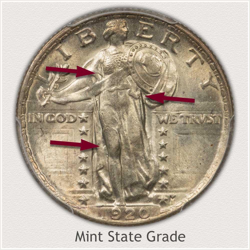 Standing Liberty Quarter Mint State Grade