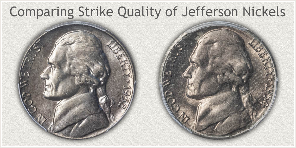 Soft Strike and Bold Strike Jefferson Nickels