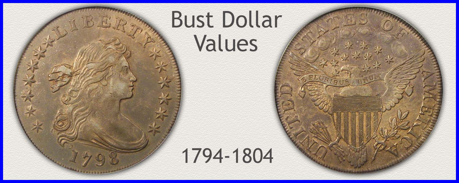 Picture of a Bust Dollar Minted 1794 to 1804