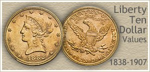 Go to...  Liberty Ten Dollar Gold Coin Values