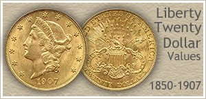 Go to...  Liberty Twenty Dollar Gold Coin Values