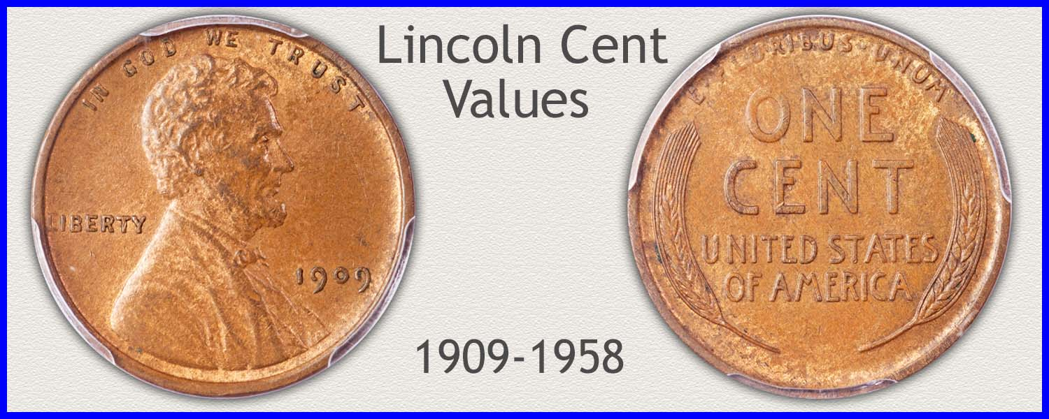Picture of Lincoln Penny Minted 1909 to 1958
