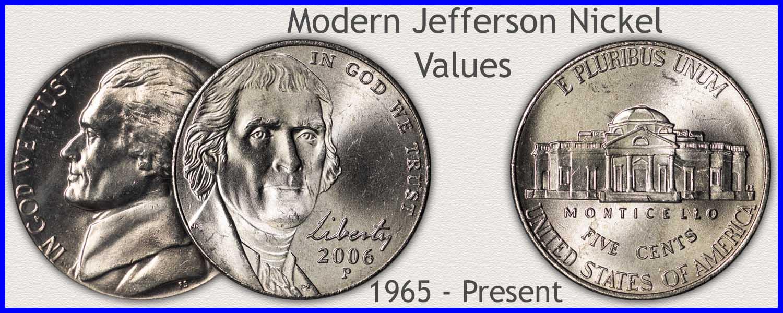 Visit...  Modern Jefferson Nickel Values