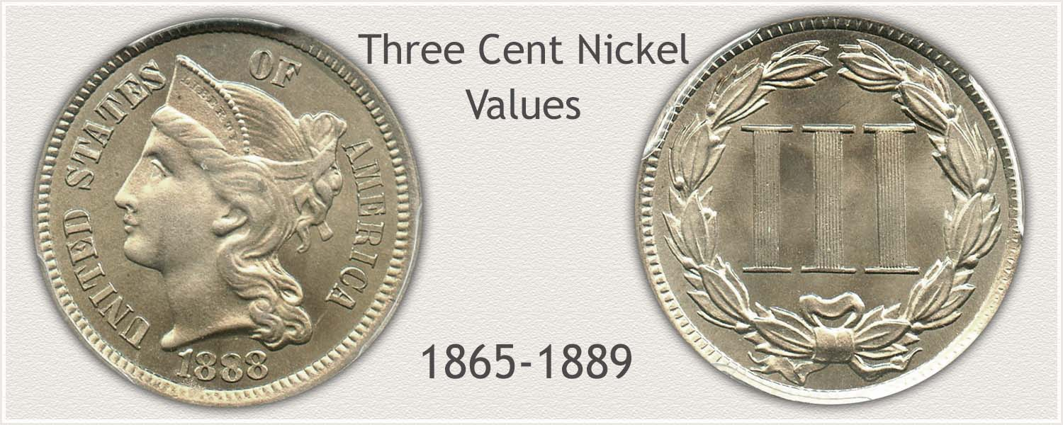 Three Cent Nickel Obverse and Reverse