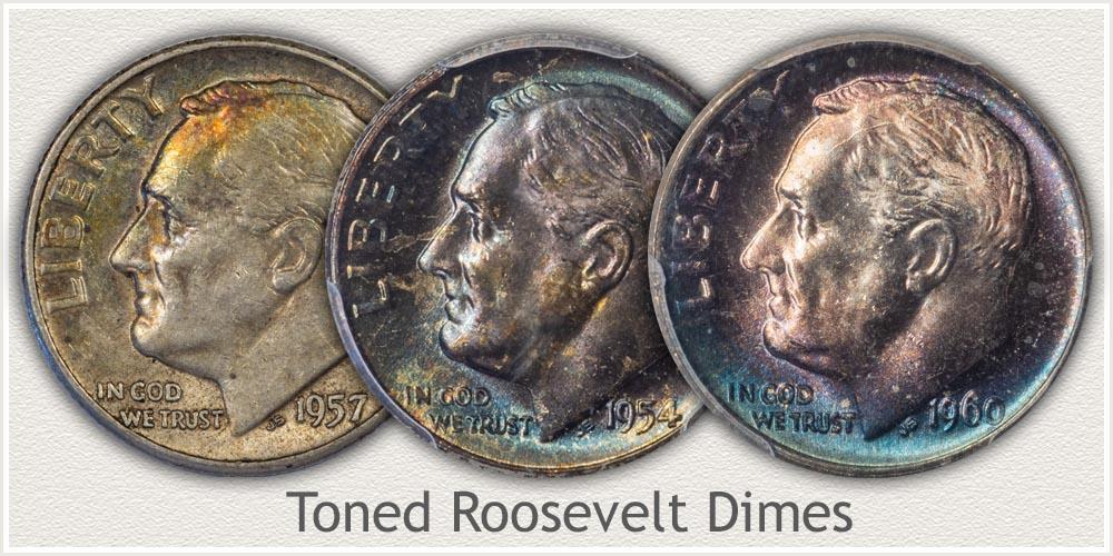 Toned Roosevelt Dimes