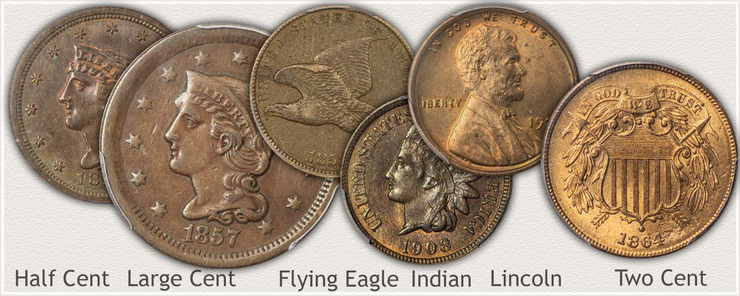 Examples of US Cents