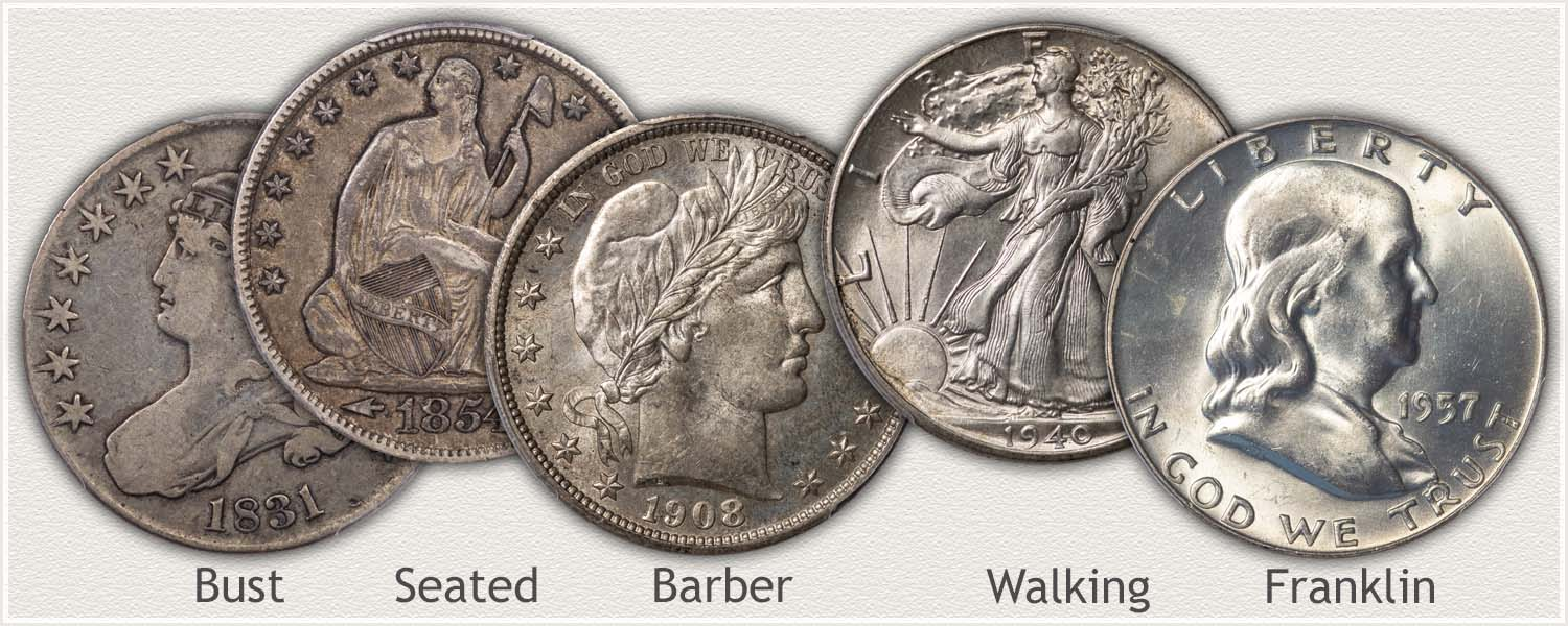 Examples of US Half Dollars
