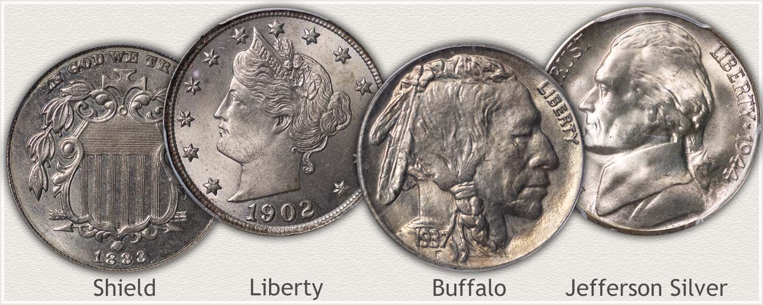 Examples of US Nickels