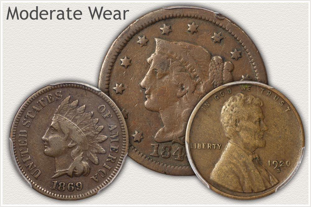 US Pennies in Fine Grade