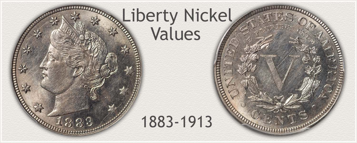 Obverse and Reverse of a V Nickel also Known to Collectors as the Liberty Nickel
