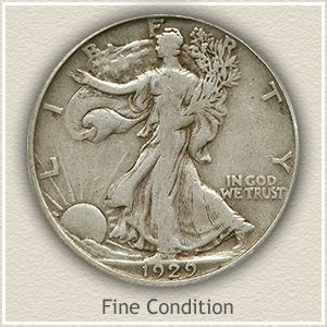 Walking Liberty Fine Condition