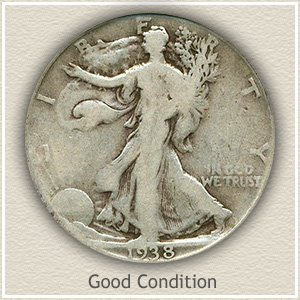 Walking Liberty Good Condition