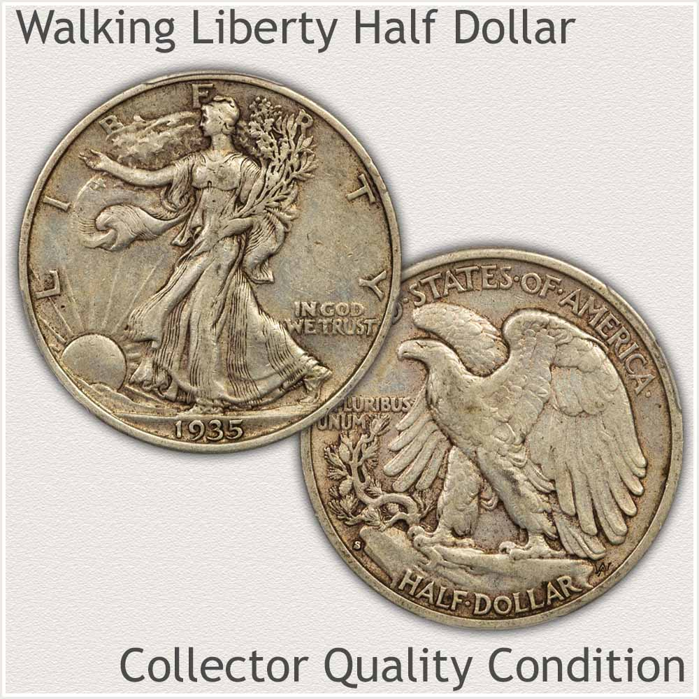 Walking Liberty Half Dollar in Extremely Fine Grade