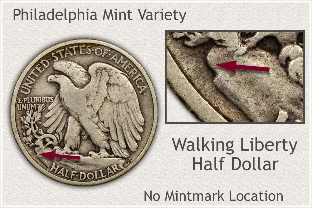 No Mintmark is a Philadelphia Mint Half Dollar