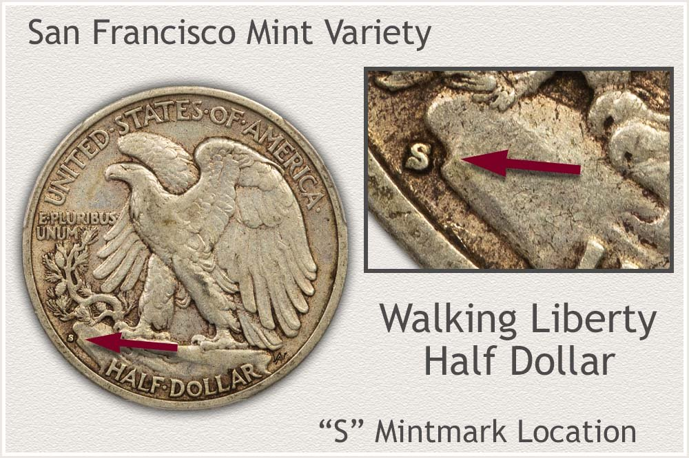 S Mintmark of the San Francisco Mint
