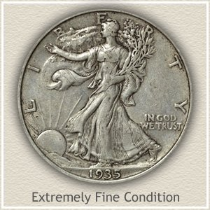 Walking Liberty Half Dollar Extremely Fine Conditon