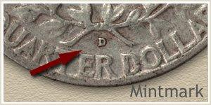 1954 Quarter -D- Mintmark