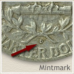 Silver Washington Quarter Mintmark Location