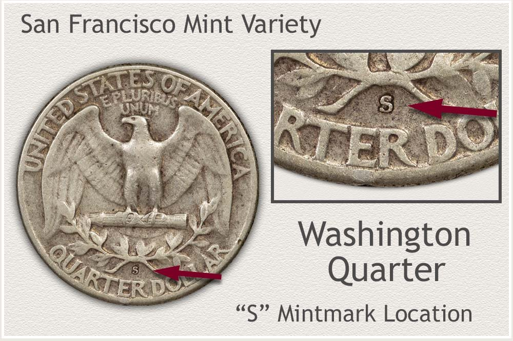 Location of S Mintmark San Francisco Mint